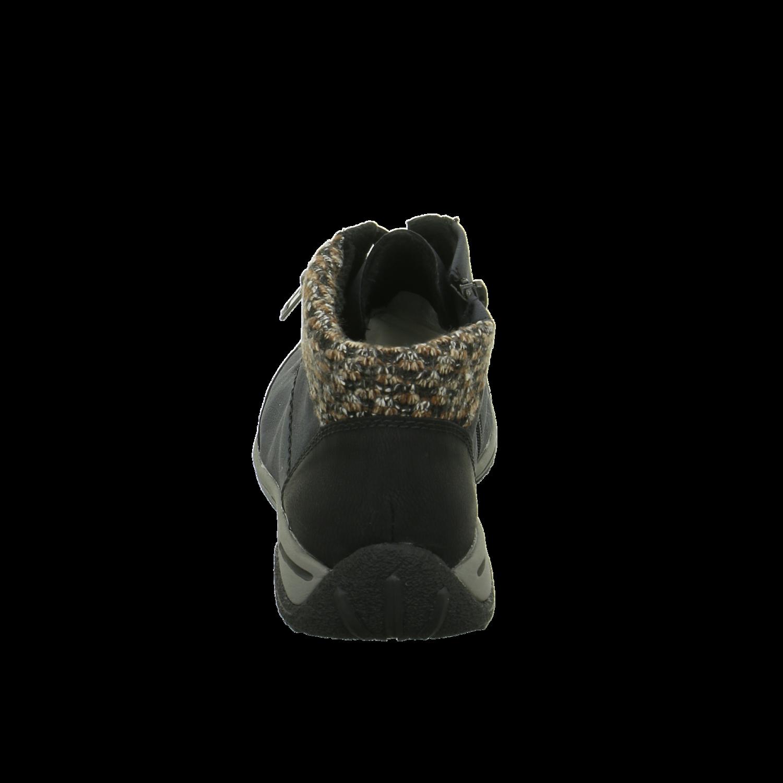 Rieker Damen Stiefeletten Schnürstiefelette Warmfutter L5223-01 blau 306096