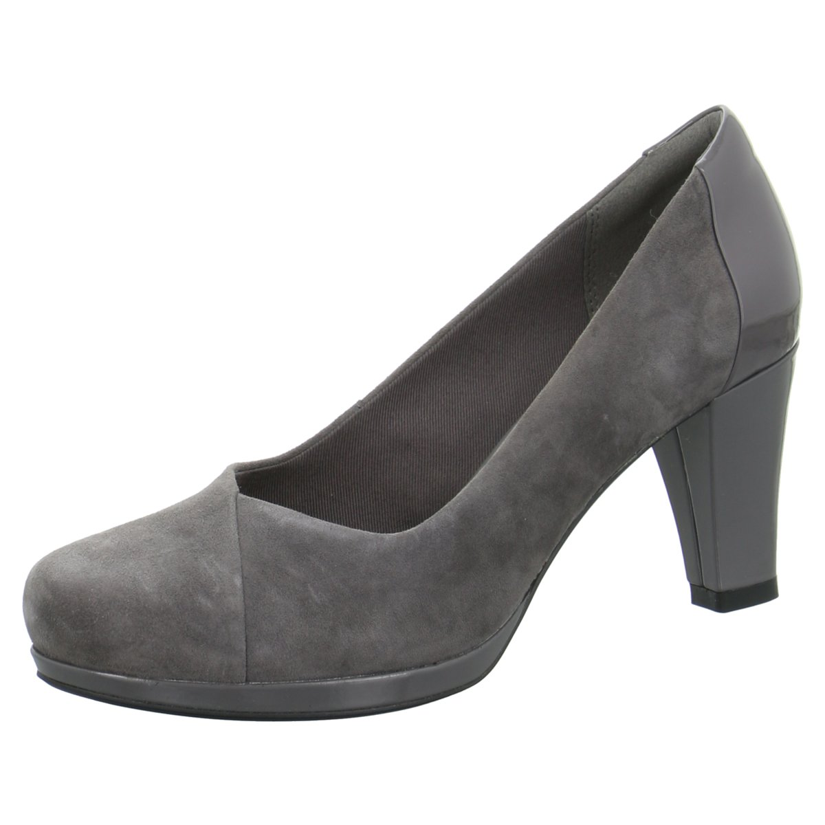 Clarks Damen Pumps damen 261288204 grau 335320