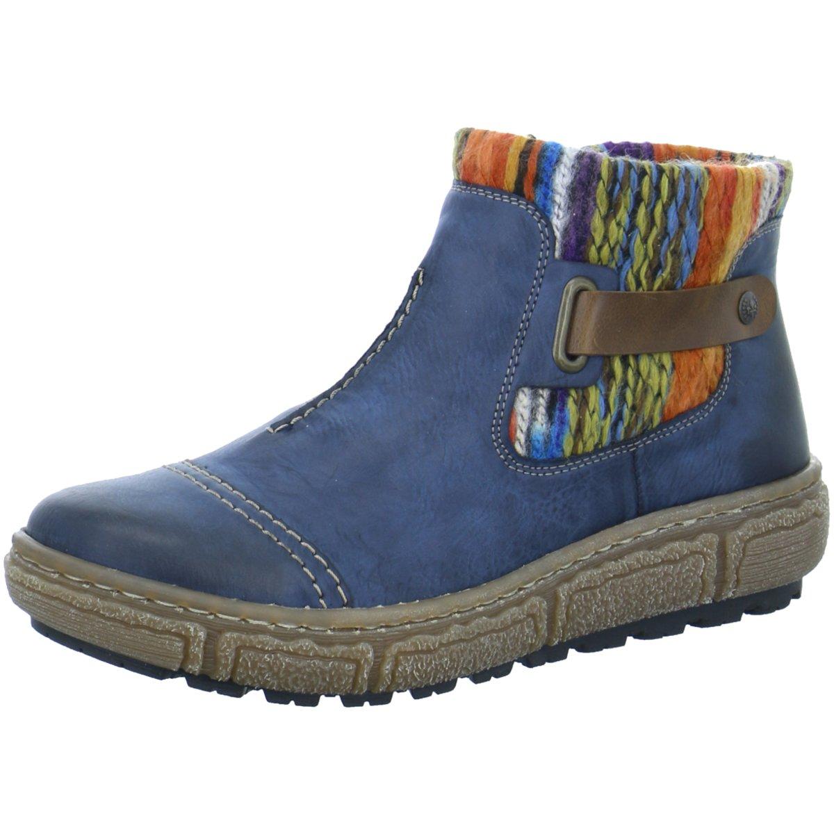 NEU Rieker Damen Komfort Z798414 blau 353104
