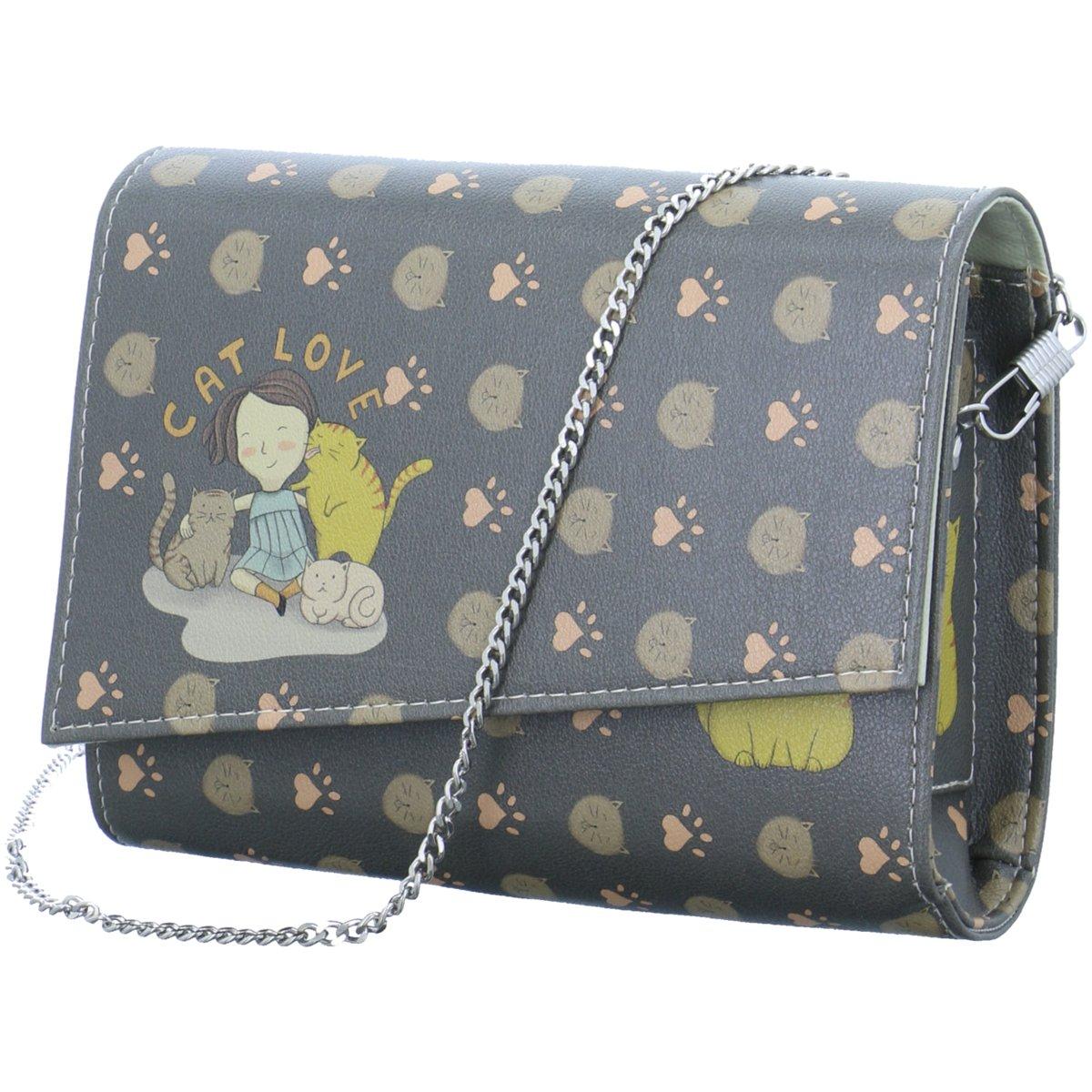Schuhe X Taschen Cat Clutch Dogo Blau Love 357946 Accessoires SEYqaSxwd