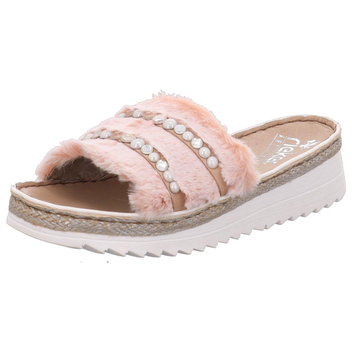 Details zu Rieker Damen Sandalen Pantolette rosa in 2020