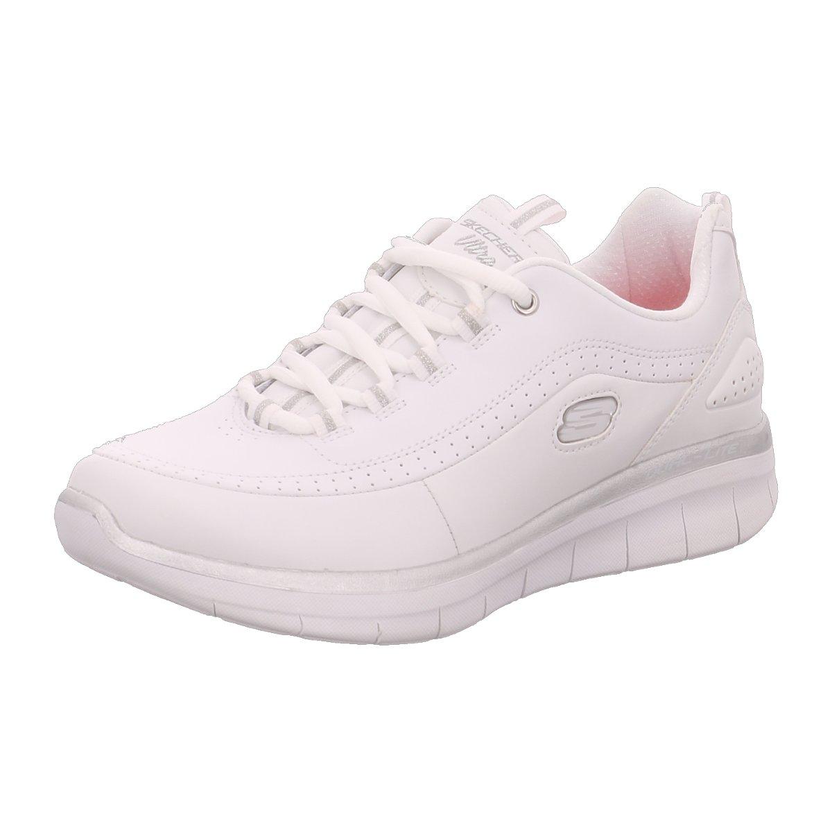 Skechers Damen Schnuerschuhe Syynergy 2.0 12363-WSL Weiß Silber (weiß) -