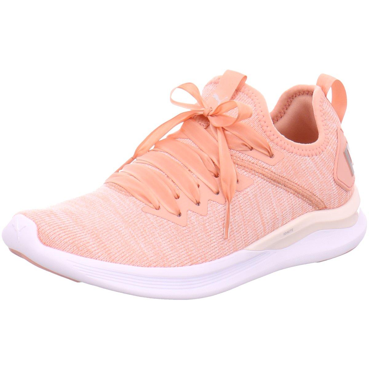 check out 258ad 8d6c7 Details zu #S2K Puma Damen Sneaker IGNITE FLASH EVOKNIT SATIN EP WN'S  190959-002 rosa