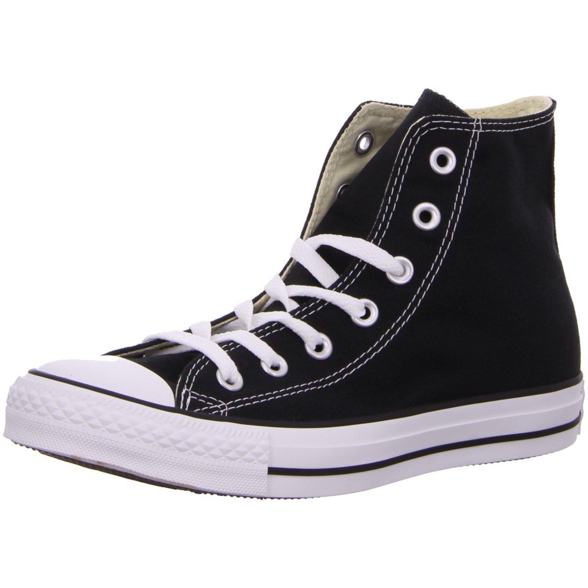 Details zu #S2K Converse Herren Sneaker Leinen Stiefelette All Star HI  M9160C schwarz