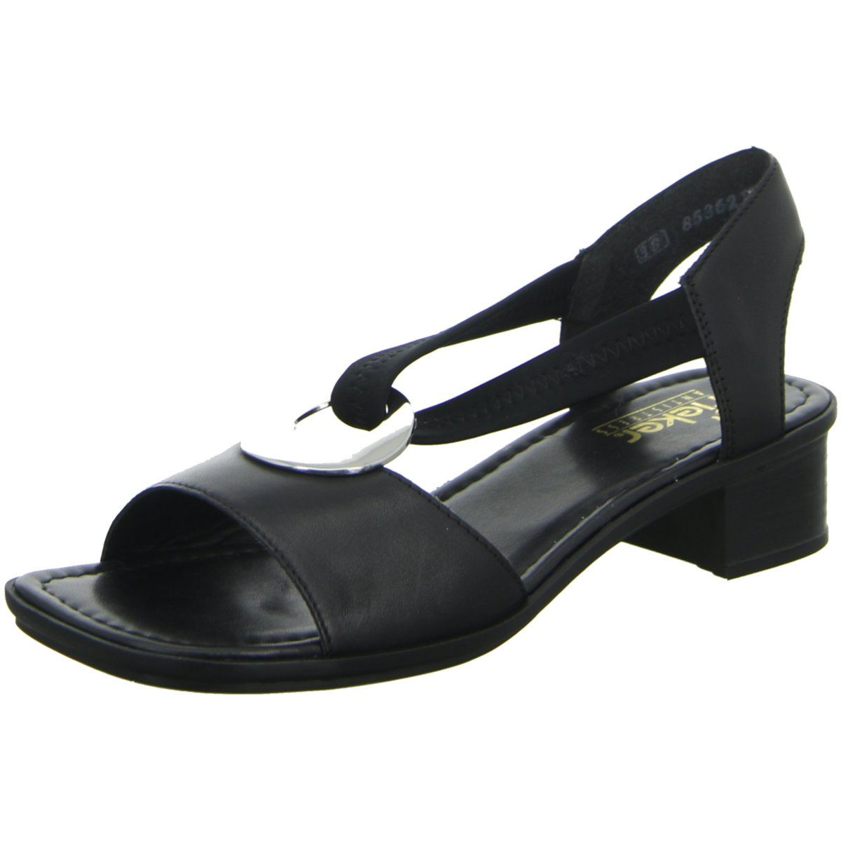 Details zu Rieker Damen Sandaletten Victoria 6266201 schwarz 127462