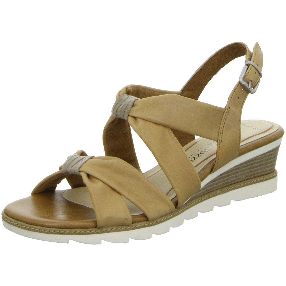 Marco Tozzi Damen Sandaletten Sandalette eleganter Boden 2-28717-26 421 braun