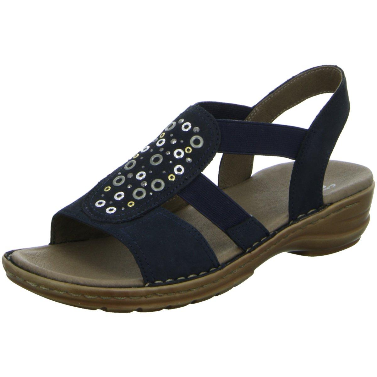 Sandalette Blau 37246 12 Damen Ara 132440 Hawai Sandaletten Sportlicher Boden CerdxBo