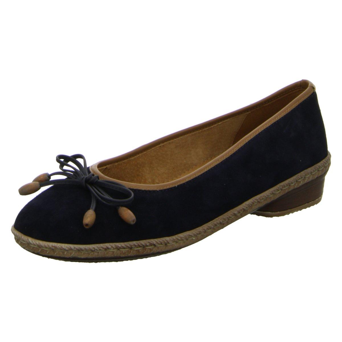 NEU Jenny Damen Ballerinas Komfort Pumps eleganter Boden 2-52968-05 blau 137796