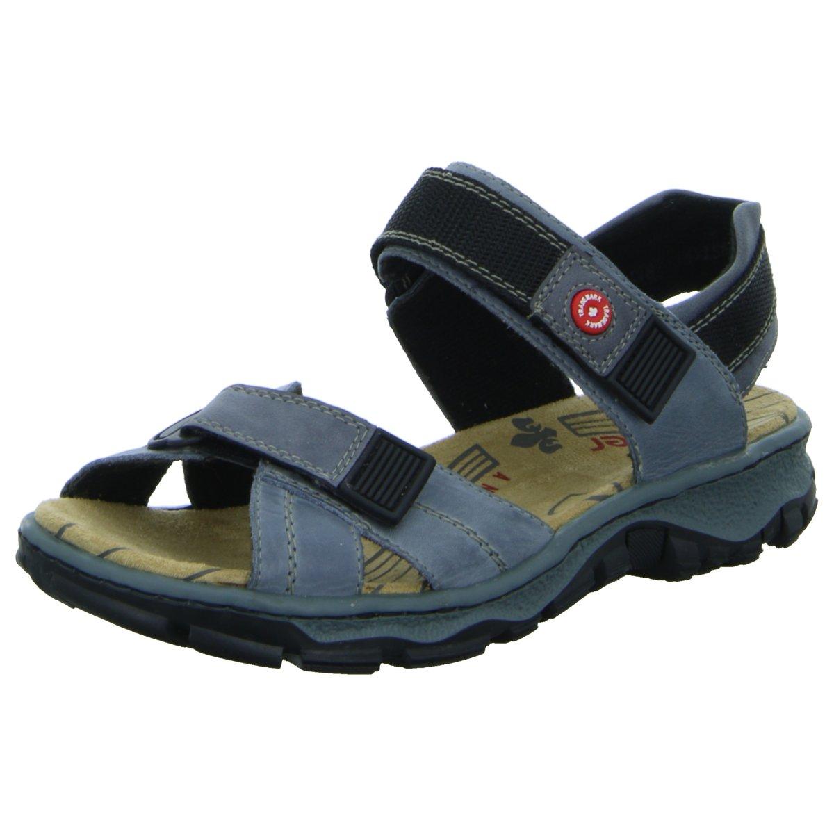 NEU Rieker Damen Sandaletten Sandalette sportlicher Boden 68851-12 blau 276570