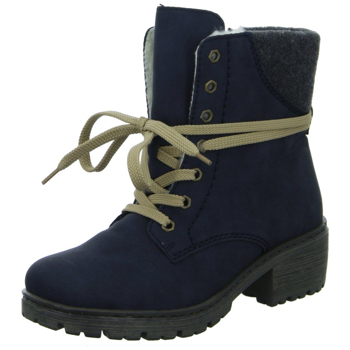 Rieker Damen Stiefeletten Y4532-14 blau 359191