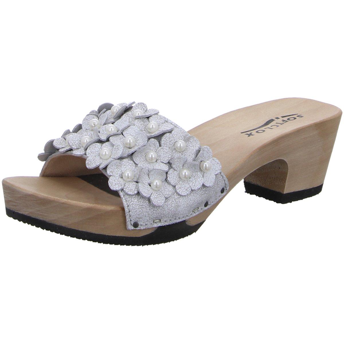 Softclox Damen Pantoletten Kati S3430-03 Matrix White Kaleido Kaschmir S3430-03 Grau 474656 fzqujHj