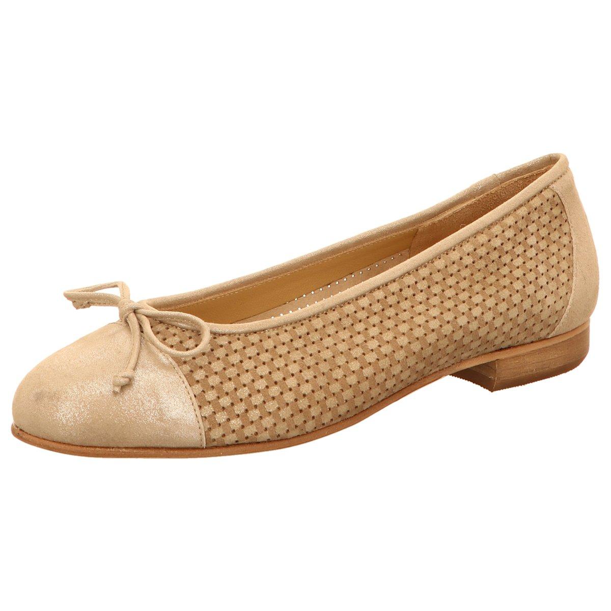 NEU Gabriele Damen Ballerinas Cane puntina Ecru /platino beige 299273