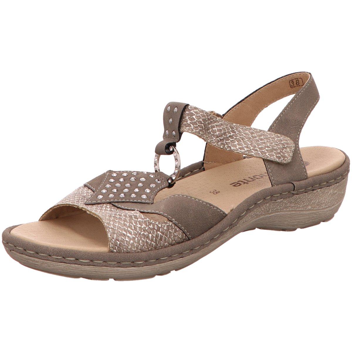 NEU Remonte Damen Sandaletten Mussurana Fango-Silv D7668-64 braun 304695