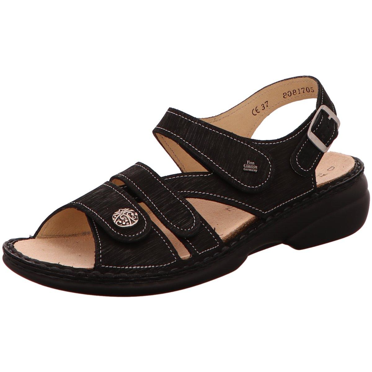 NEU FinnComfort Damen Sandaletten Gomera 02562-589099 schwarz Waving