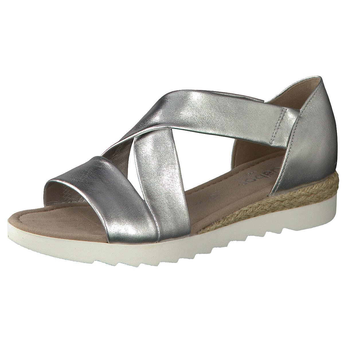 711 Silber 62 10 Damen Zu Sandaletten Details Gabor 253388 LqpMUVSzG