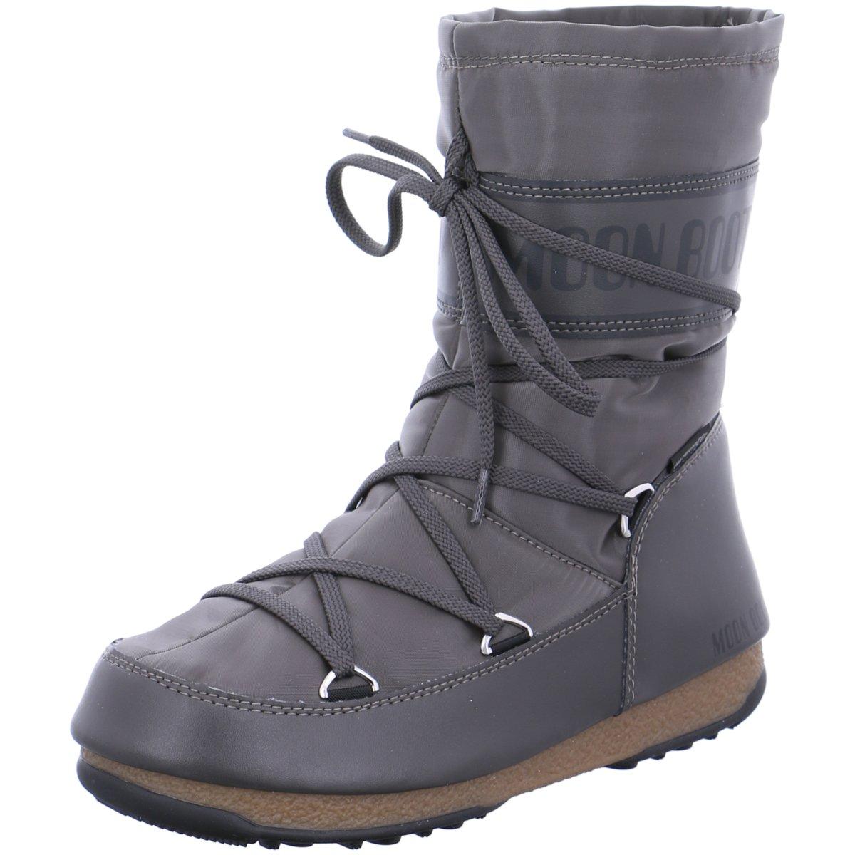 NEU Moon Boot Damen Stiefeletten Soft Shade mid 24004600-002 grau 398041