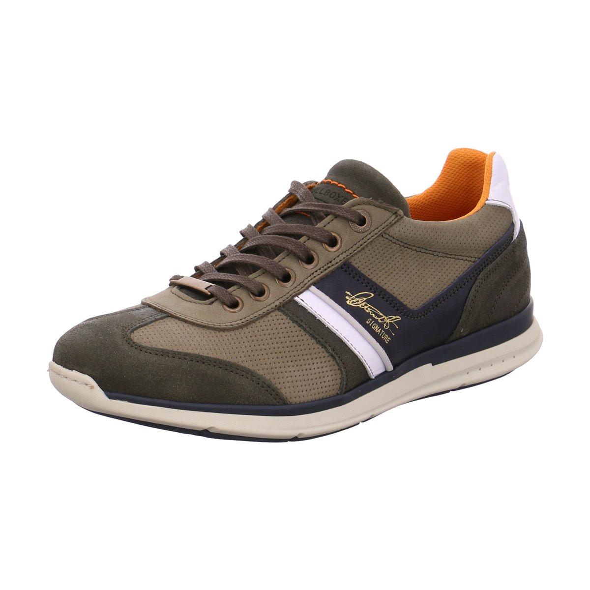 NEU Bullboxer Herren Sneaker Schnürhalbschuh 630K25362AGNNWSU00 grün 423423