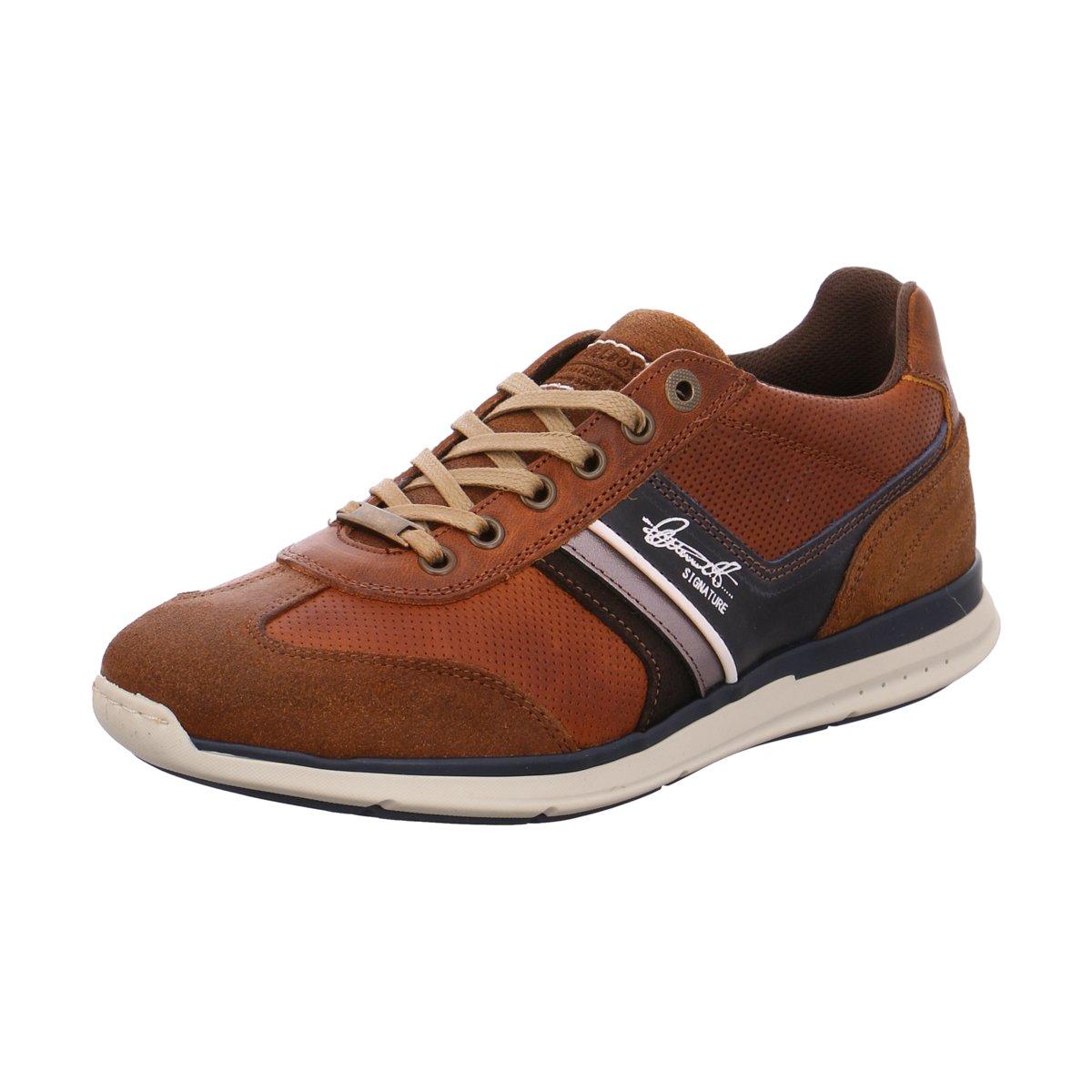 NEU Bullboxer Herren Sneaker Schnürhalbschuh 630K25362ACONBSU00 braun 423432