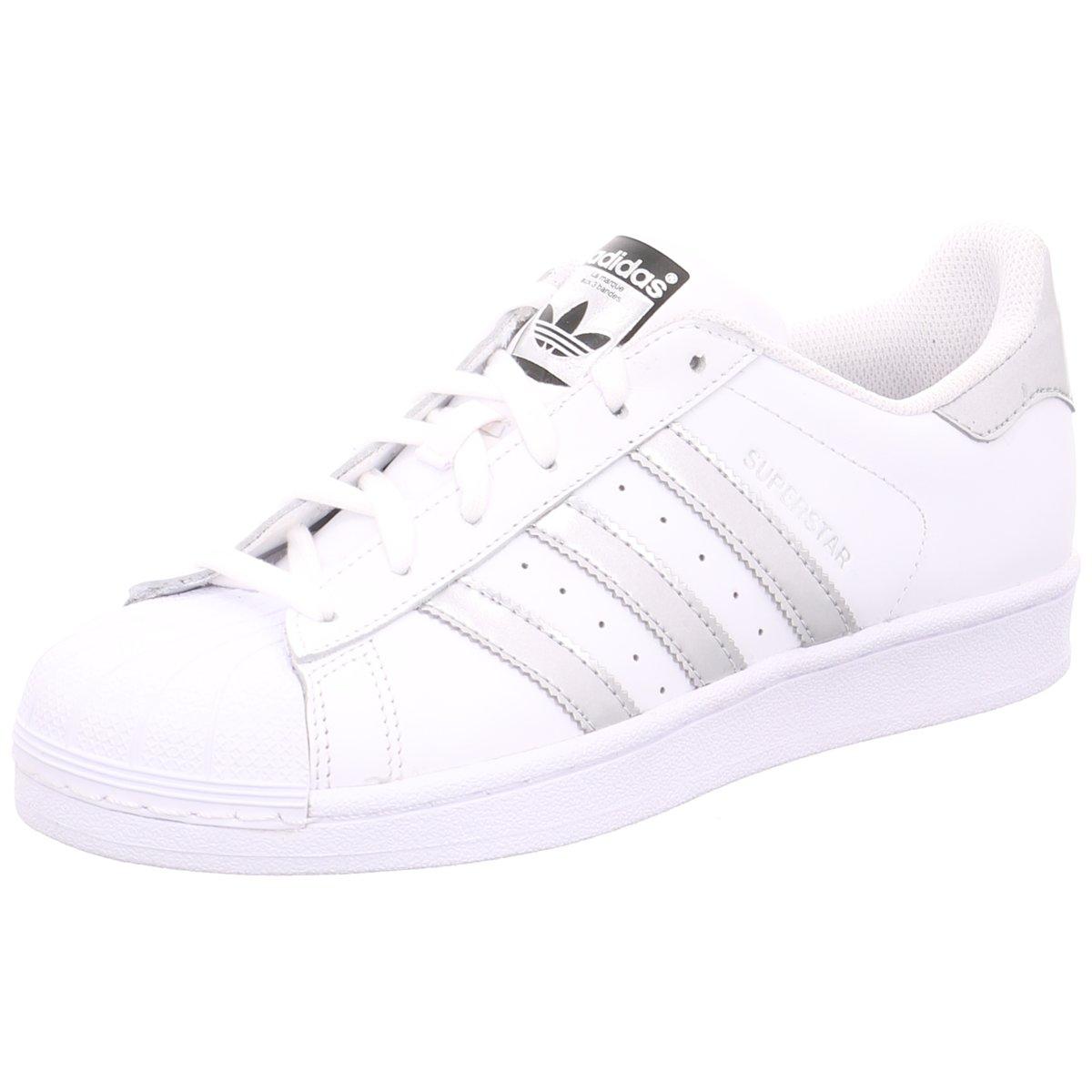Details zu #S2K adidas Damen Sneaker Superstar Damen Sneaker weiß/silber  AQ3091 weiß