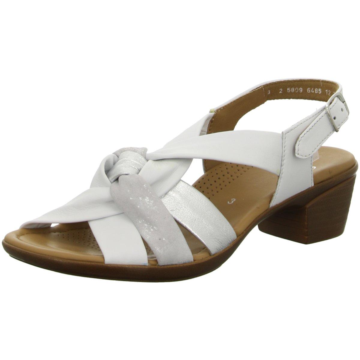 Zu Details 05 Lugano Ara Damen 254002 Sandaletten Weiß 35741 rCxWBedo