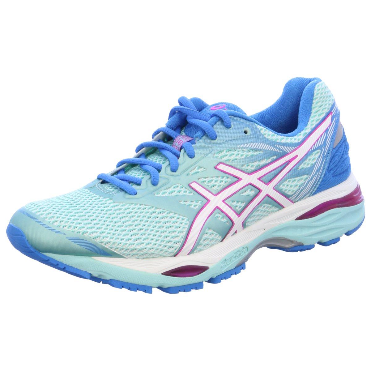 Details zu #S2K asics Damen Sportschuhe Gel Cumulus 18 Damen Laufschuhe Running blau mint