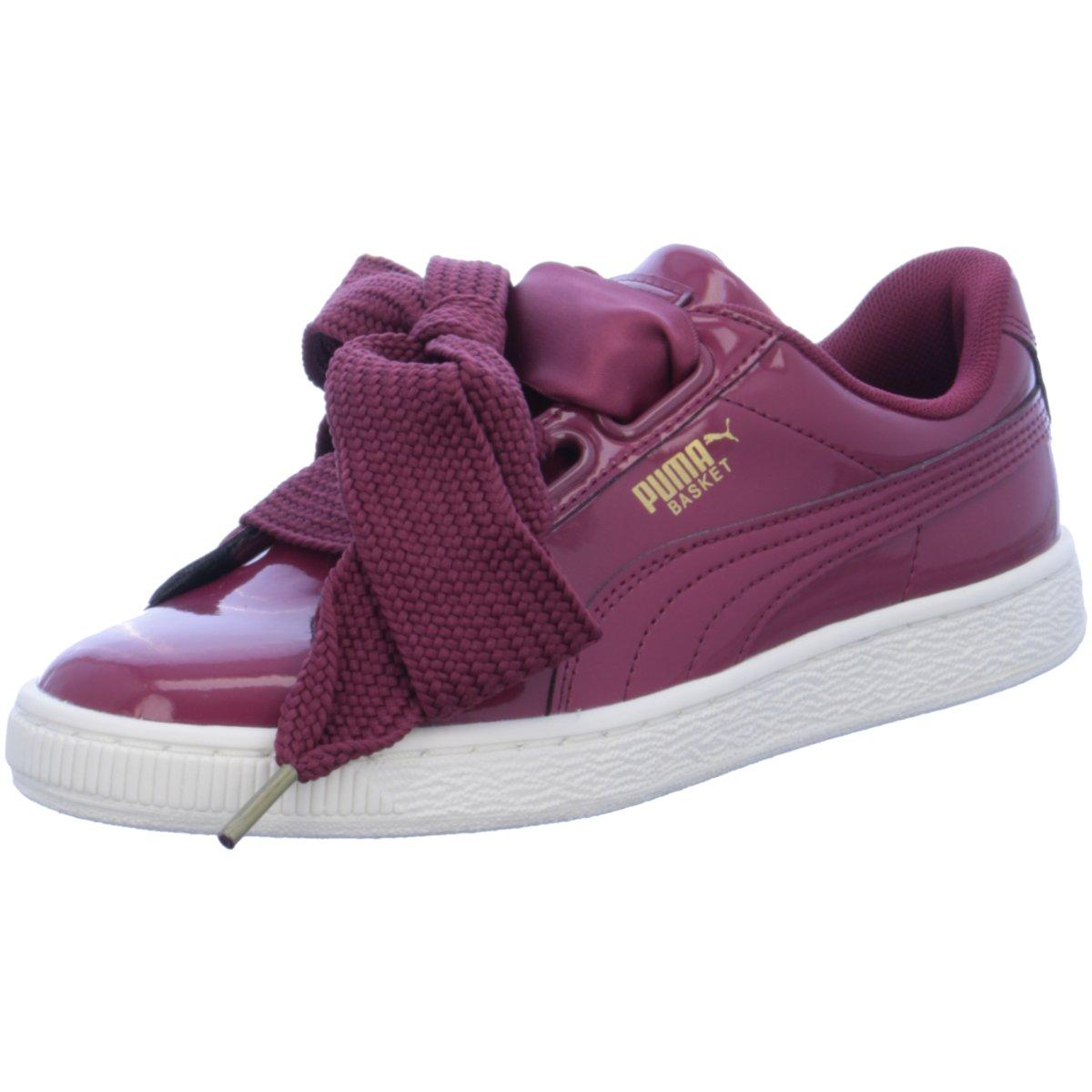 #S2K Puma Damen Sneaker Basket Heart Patent Sneaker Damen Schuhe rot  363073-005 | eBay