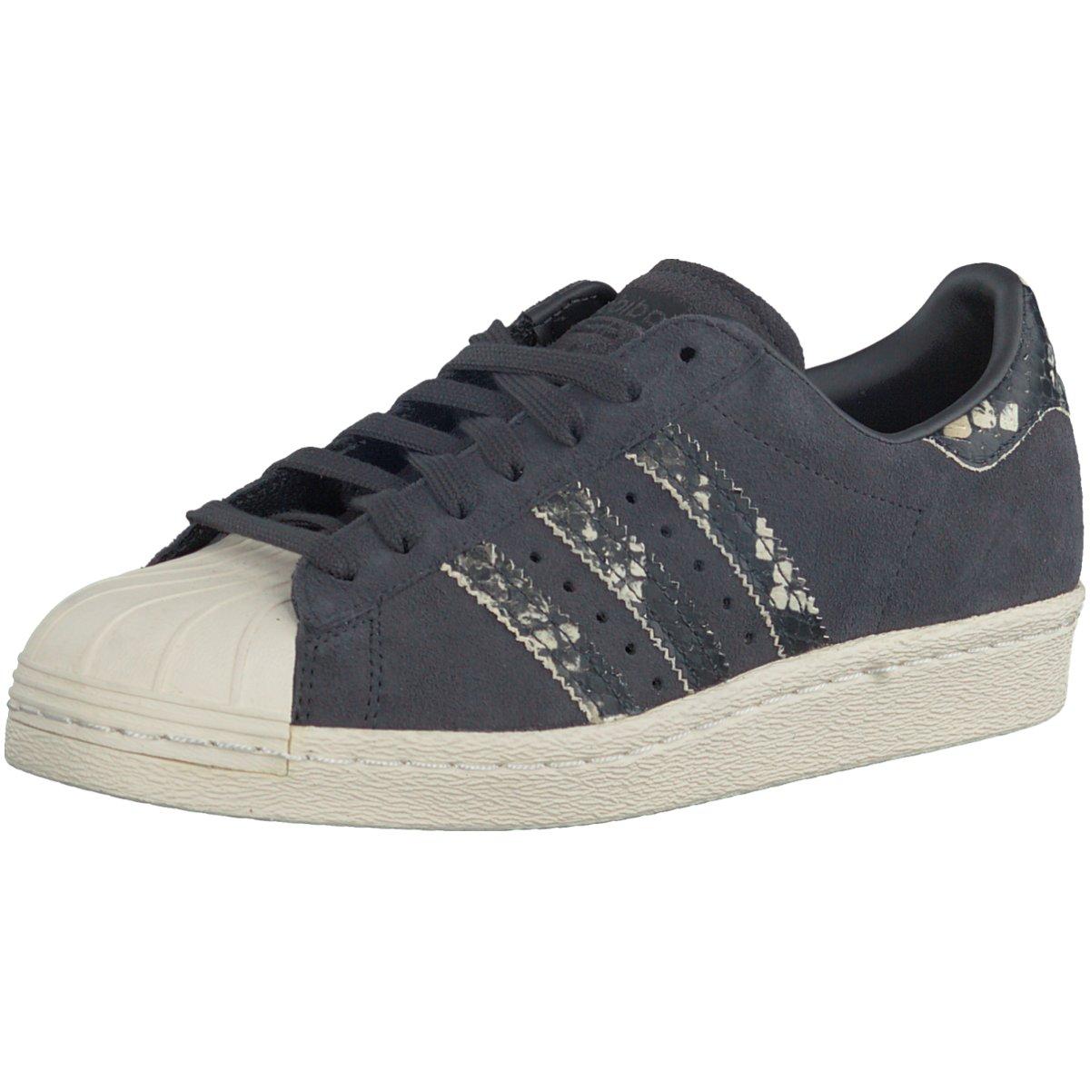 S2K adidas Originals Damen Turnschuhe Superstar 80s W Damen Turnschuhe anthrazit