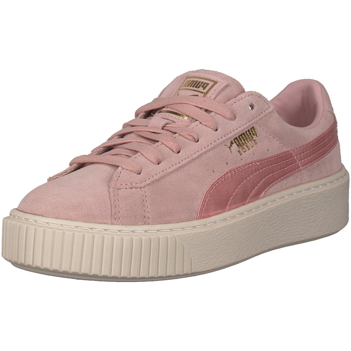Details zu #S2K Puma Damen Sneaker Suede Platform Satin Sneaker 365828-003  rosa 301695