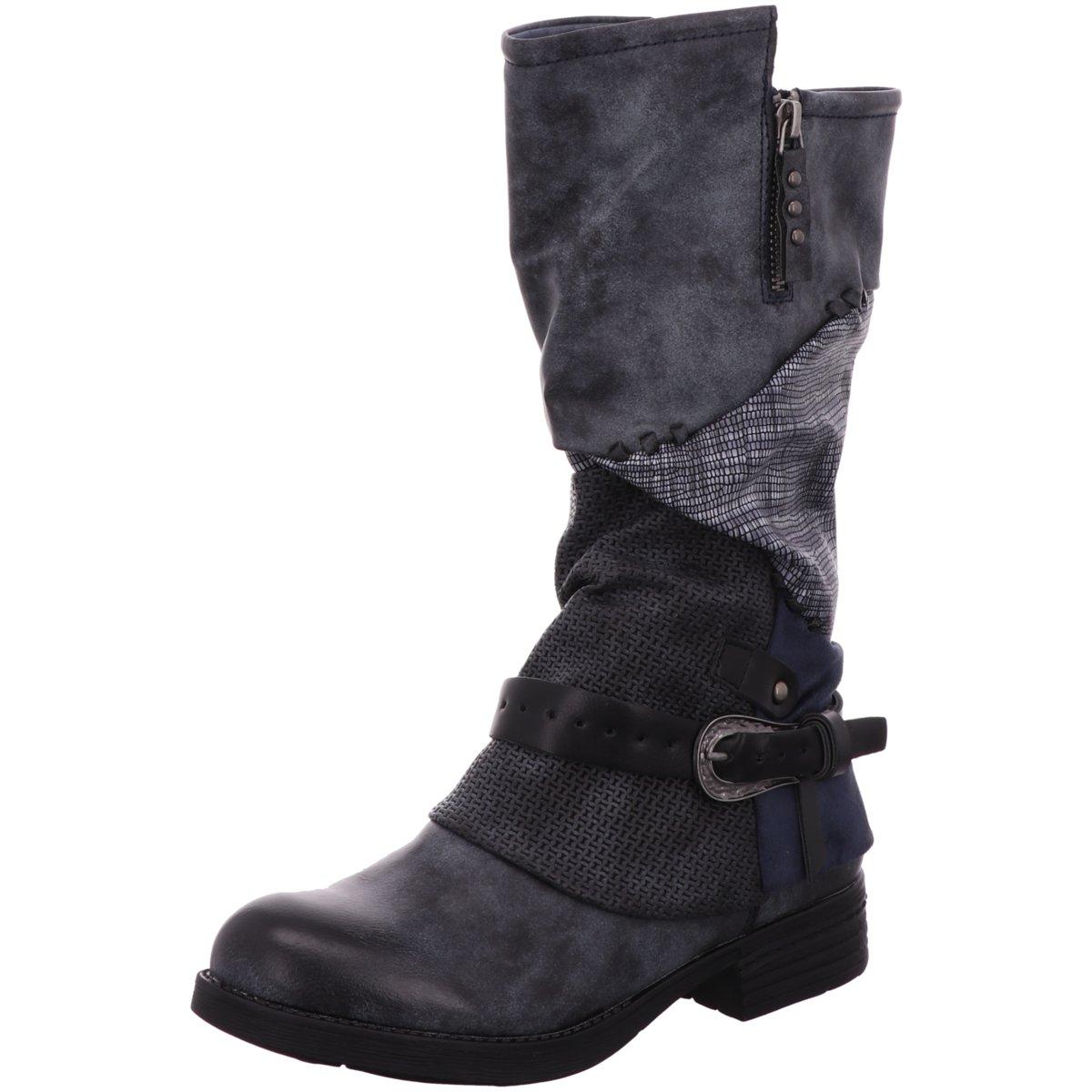 Details zu Laufsteg München Damen Stiefel HW190211 ANTIK BLACK schwarz 777008
