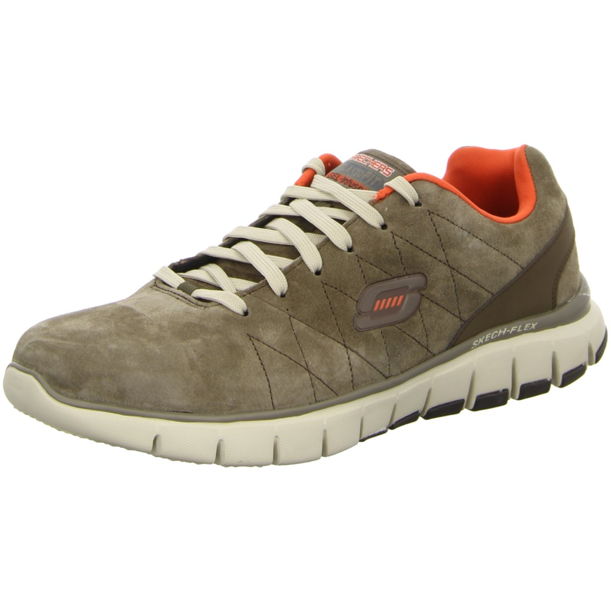 Grey Skechers Sneaker flexNatural Vigor Brother 999668 Herren Skech 63338 EH2I9WDY