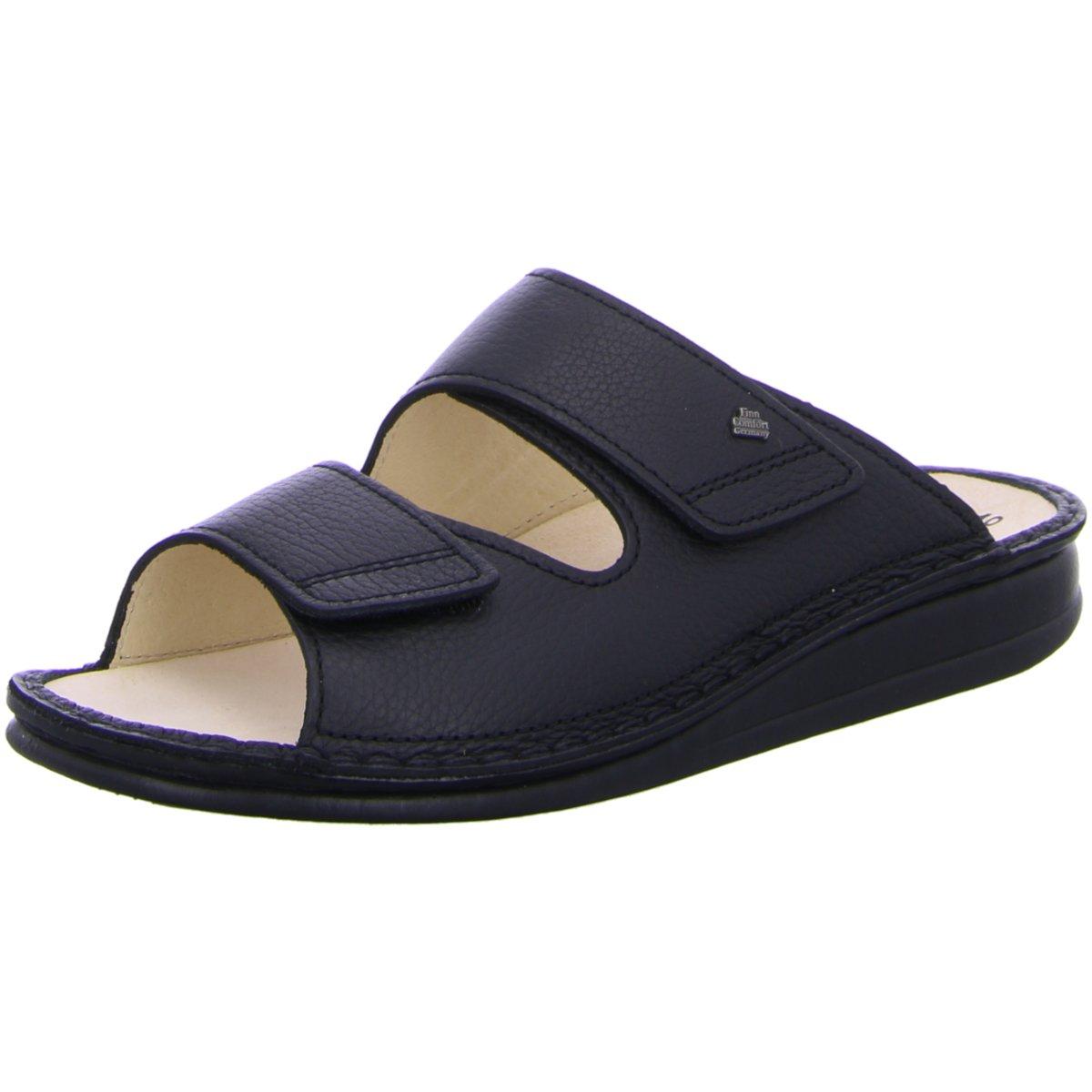 NEU FinnComfort Herren Offene Riad Pantolette 1505/046099 schwarz 78021