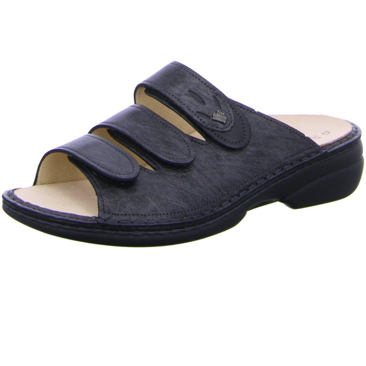 NEU FinnComfort Damen Pantoletten Kos 02554-901521 blackargento schwarz Luxory