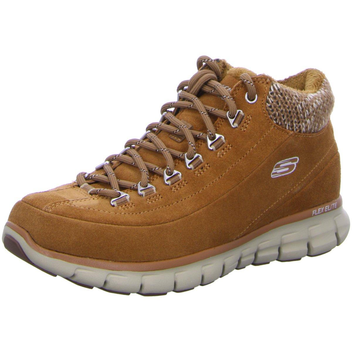 separation shoes 394f7 19a25 Details zu Skechers Damen Stiefeletten Damen Schnürstiefel 11970 CSNT braun  181802