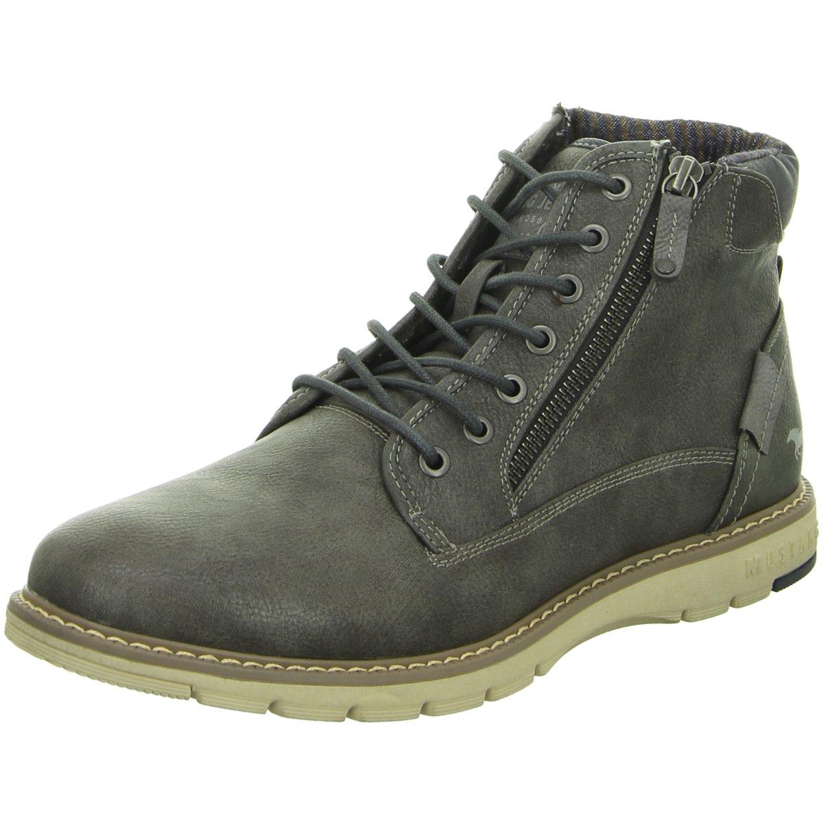 sale retailer 60ec3 bba0f Details zu Mustang Herren Stiefel 4105502-20 grau 353257