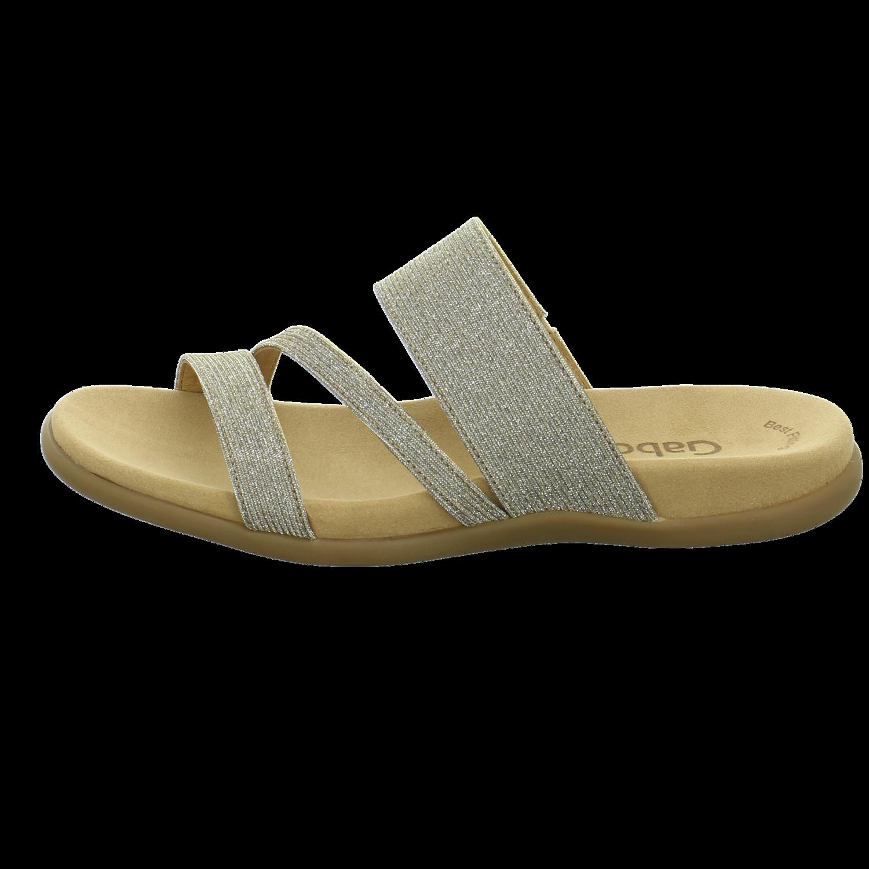 Gabor 63 703 63 Schuhe Damen Sandalen Metallic Pantoletten