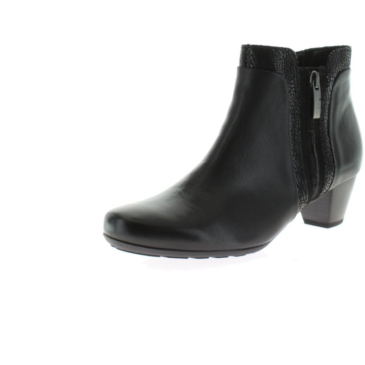 Details zu Gabor Basic Stiefeletten in Übergrößen Schwarz 35.644.27 große Damenschuhe