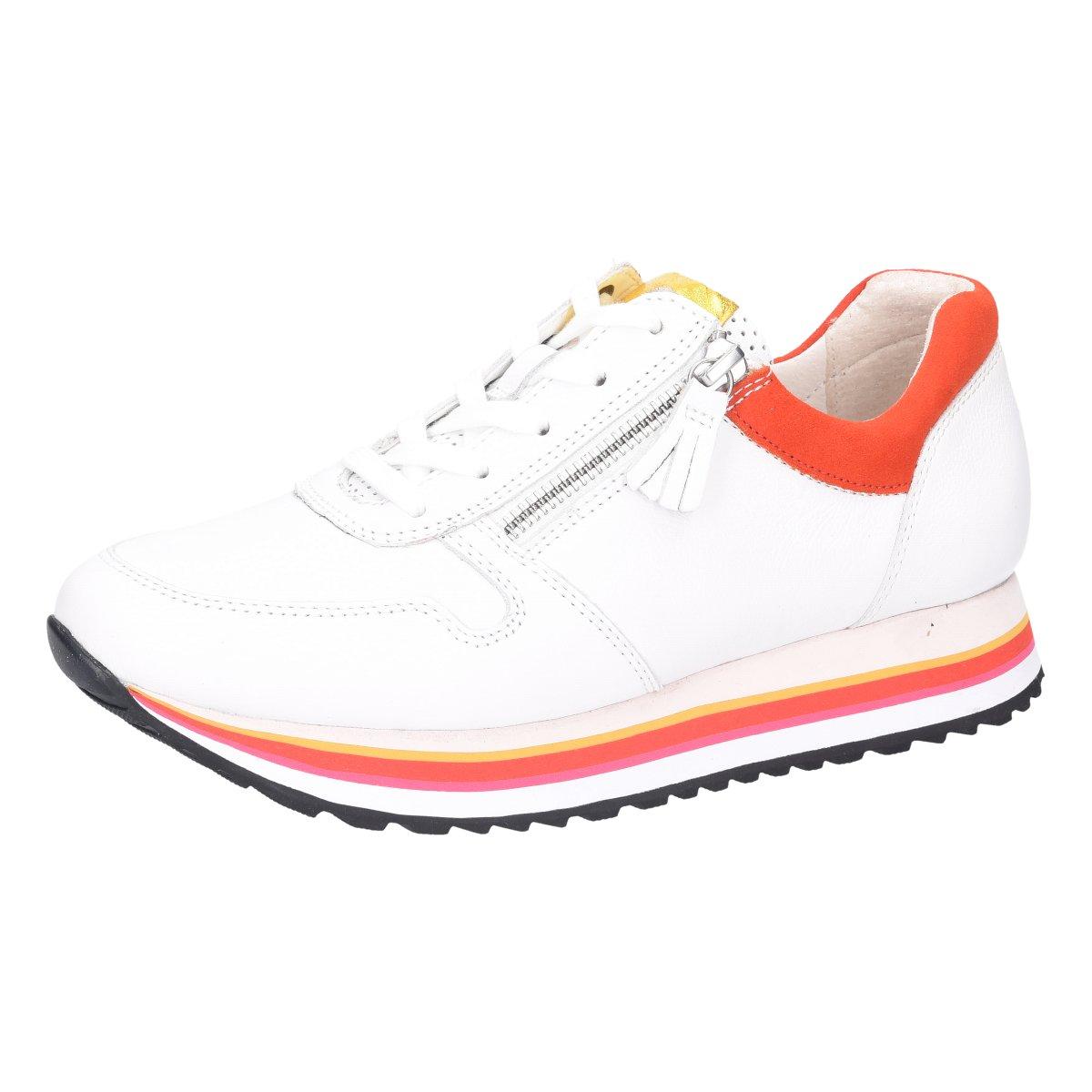 Details zu Gabor Damen Sneaker York Weite G 46.448.51 weiß 862602