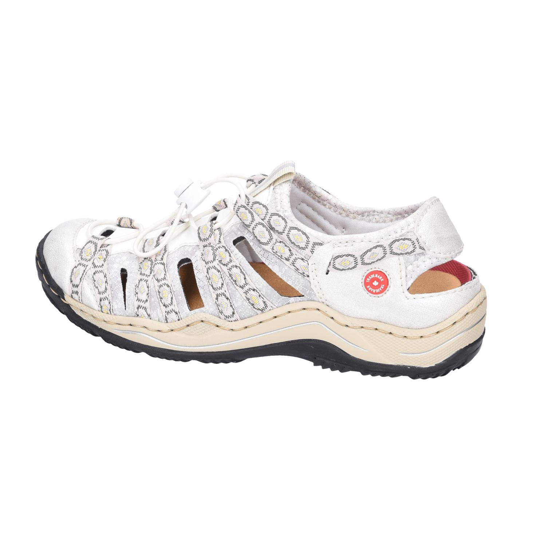 Rieker Damen Sandaletten L0577-80 weiß weiß weiß 607942 5f2b61