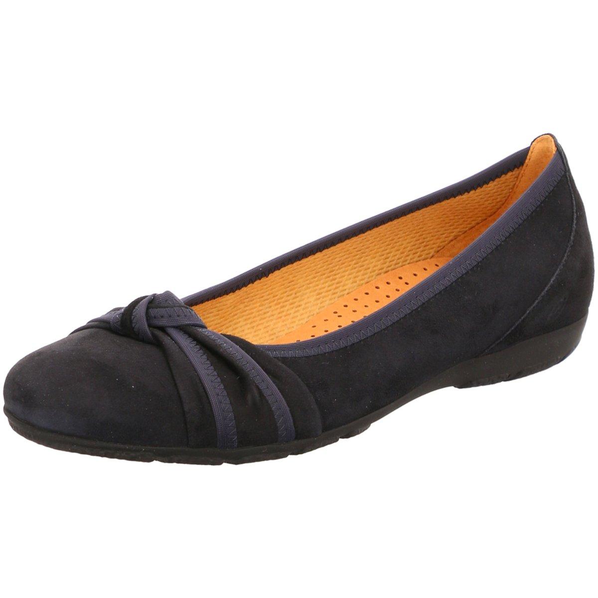 1ac4641807fe00 Das Bild wird geladen Gabor-Damen-Ballerinas-24-162-16-blau-159032
