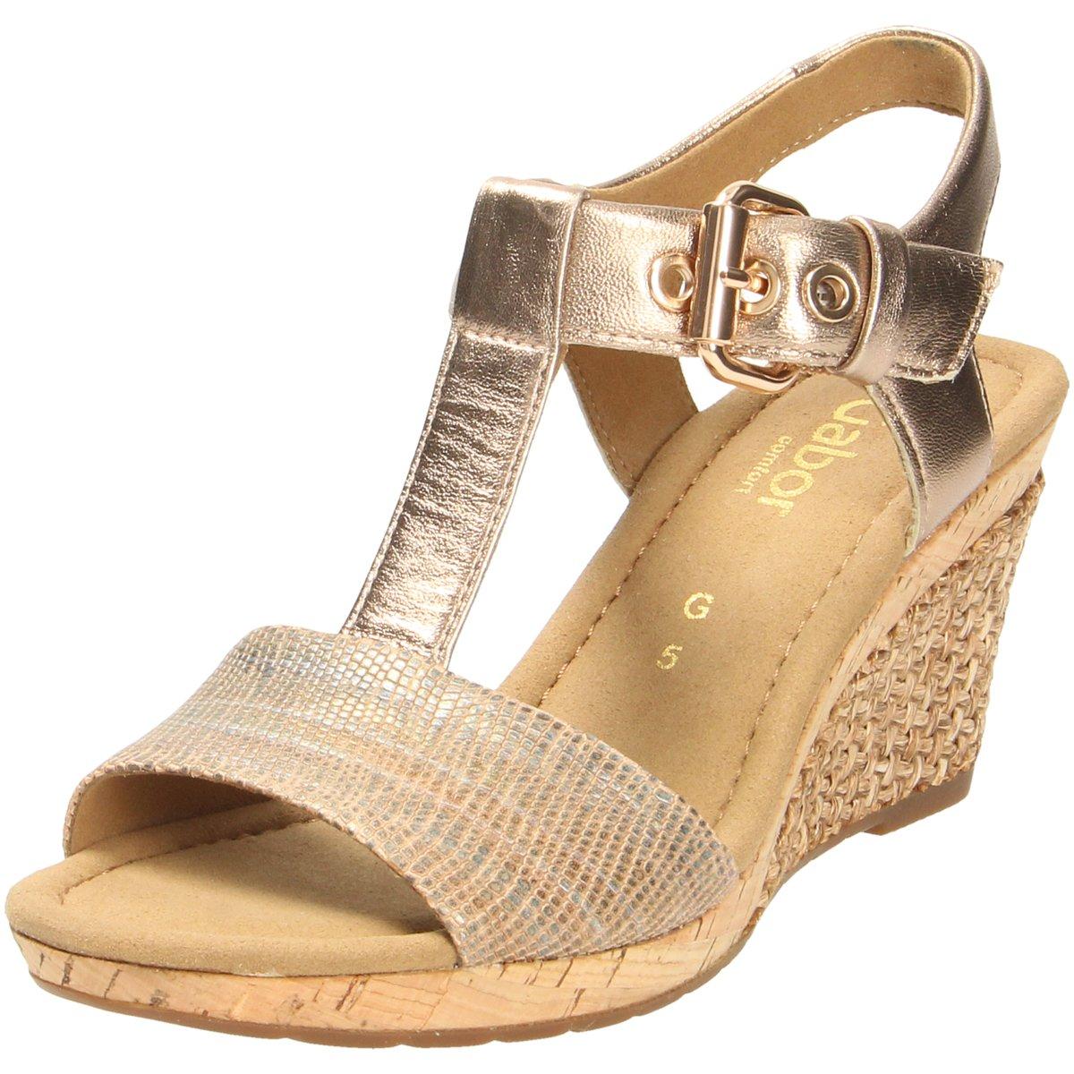 82 18 Beige Zu Details Gabor 438017 Sandaletten 824 Sandalette Damen 8OXknw0P