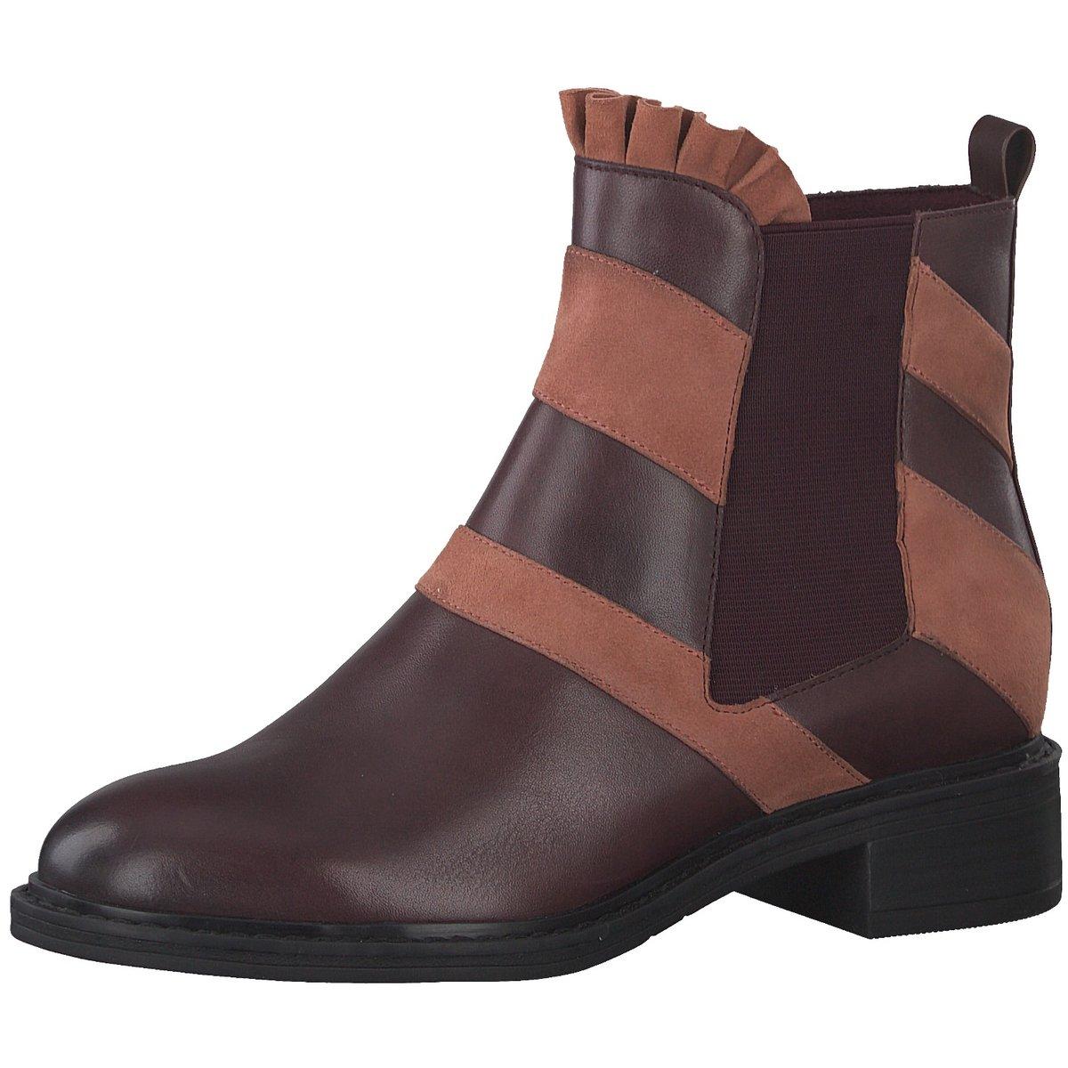 Tamaris Damen Stiefeletten Schuhe 25316 Boots Vine (weinrot