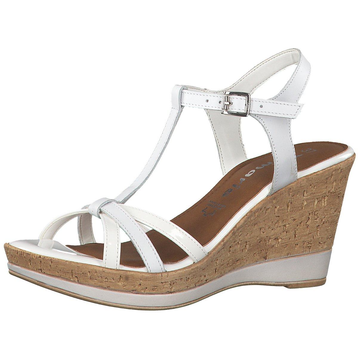 Details zu Tamaris Damen Sandaletten WHITE 1 1 28347 22 100 weiß 602783