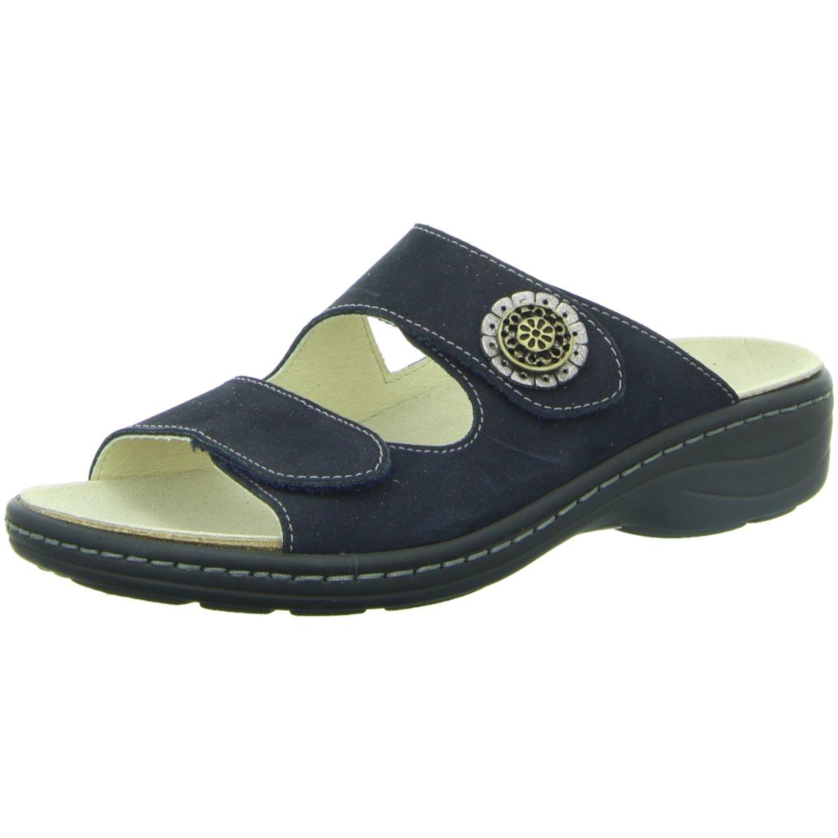 NEU Longo Damen Pantoletten Pantoletten 3074262-5 5 blau 202077